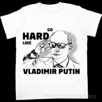 "Футболка с Путиным ""Go Hard Like Vladimir Putin"""