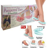 Массажер для пальцев ног с вибрацией Pampered Toes Sansation 6 штук