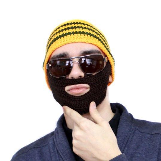 Шапка с бородой, оранжевая - 4